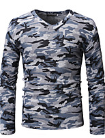 99cbc5098272 Χαμηλού Κόστους Ανδρικά μπλουζάκια και φανελάκια-Ανδρικά T-shirt Γεωμετρικό    Συνδυασμός Χρωμάτων