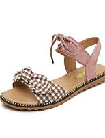 934495921c6 abordables Zapatos de Mujer-Mujer PU Verano Casual   Dulce Sandalias Tacón  Plano Dedo redondo