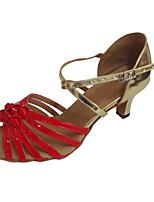 9b58cdd4cb baratos Sapatos de Dança-Mulheres Sapatos de Dança Latina Couro Ecológico  Salto Salto Cubano Personalizável