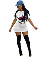 b24f5c1d721b billiga Maxiklänningar-Dam Grundläggande Mantel T Shirt Klänning Paljetter  Maxi