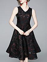 Χαμηλού Κόστους -Γυναικεία Κομψό Θήκη Φόρεμα - Γεωμετρικό, Στάμπα Μίντι