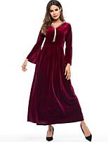 economico -Abbigliamento tradizionale e culturale Vestiti Per donna Da tutti i giorni Peluche Più materiali Manica lunga Abito