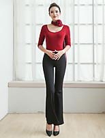 economico -Danza del ventre Completi Per donna Prestazioni Modal / Cotone leggero Con ruche Mezza manica Naturale Top / Pantaloni