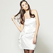 tsのノースリーブフリルベアバックドレス/女性のドレス