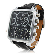 V6 Hombre Reloj Militar / Reloj de Pulsera Tres Husos Horarios PU Banda Negro / Dos año / Mitsubishi LR626