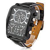 V6 Hombre Reloj Militar / Reloj de Pulsera Tres Husos Horarios PU Banda Encanto Negro / Dos año / Mitsubishi LR626