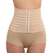 ropa de dormir del corsé de las mujeres, retro medio beige transpirable cómodo suave sexy ceñido