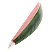 スイカの形をしたボールペンマグネット(赤)