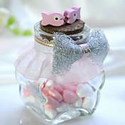 Cilindro Vidrio Soporte para regalo  Con Cintas Arco Jarros y Botellas de Caramelos-6