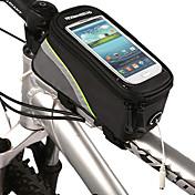 ROSWHEEL 自転車用フレームバッグ 携帯電話バッグ 5.3 インチ 防水 防水ファスナー タッチスクリーン サイクリング のために Iphone 8 / 7 / 6S / 6