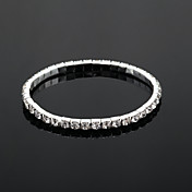 tenis de la boda del rhinestone de las señoras brillantes en estilo elegante de la aleación de plata