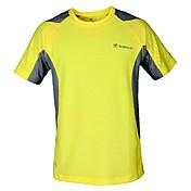 Hombre Camiseta de running Manga Corta Secado rápido Transpirable Camiseta Top para Ejercicio y Fitness Deportes recreativos Running 100%
