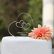 Decoración de Pasteles Tema Jardín Tema Clásico Corazones Pareja Clásica Cristal Boda Aniversario Despedida de Soltera con Caja de Regalo