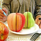 かわいいクリエイティブなステーショナリーの果物と野菜のメモ