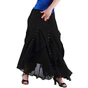 女性のトレーニングシフォンナチュラルエレガントなスタイルボールルームのダンススカート