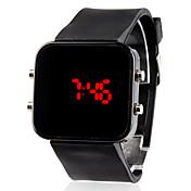Hombre Reloj de Pulsera Digital Calendario LED Silicona Banda Negro