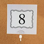 tarjetas de papel mesa número tarjetas 10 bolsas de polietileno boda recepción hermosa