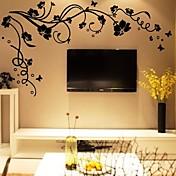 植物の ウォールステッカー プレーン・ウォールステッカー 飾りウォールステッカー,ビニール 材料 洗濯可 取り外し可 ホームデコレーション ウォールステッカー・壁用シール