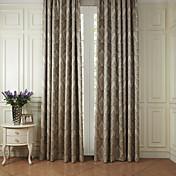 Corredizo Anillo Lazo de tela Doble plisado Dos Paneles Ventana Tratamiento Rococó , Jacquard Poliéster Material cortinas cortinas