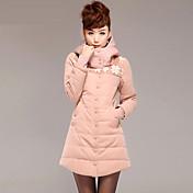 Sudadera con capucha de algodón grueso caliente Outwear la manga larga de las mujeres