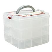 メイク用品収納 化粧品箱 / メイク用品収納 ゼブラプリント 16.3 x 15.0 x 13.0