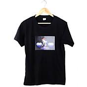 カジュアル Tシャツ ラウンドネック プリント コットン 半袖