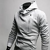 múltiples cremallera chaqueta con capucha de lana de los hombres