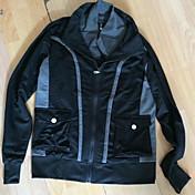 color de contraste recién delgada chaqueta delgada de los hombres