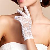 guante de novia de longitud de encaje Guantes de novia estilo femenino clásico