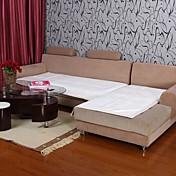 elaine loto patrón bordura felpa corta sofá blanco cojín 334025
