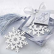 lindo copo de nieve hueco con borlas de 6.5 * 6.5 * 1 marcadores de metal& clips (plata, 1pc)
