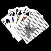 パーソナライズされたギフトメープルは、ポーカー用のカードを再生するパターングレーの葉