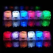 12個の色の変化の氷のキューブは、ライトパーティーの結婚式のバーレストランを導いた