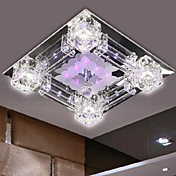 Moderno/Contemporáneo Cristal LED Montage de Flujo Luz Downlight Para Dormitorio Comedor Hall Blanco Cálido Blanco Bombilla incluida