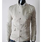 chaqueta de cuello alto color sólido de los hombres de marca