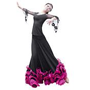 大広間ダンスウェアスカート女性のチュールviscoseエレガントなクラシックなドレス