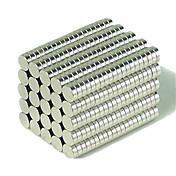 Juguetes Magnéticos Bloques de Construcción Imanes magnéticos superfuertes Ndfeb Neodimio Mmagnet Circular Cylinder 200 Piezas 3*1mm