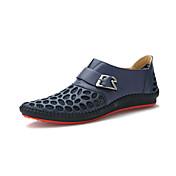 Hombre-Tacón Plano-Confort-Zapatos de taco bajo y Slip-Ons-Oficina y Trabajo Informal-Cuero-