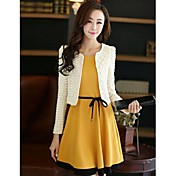 TS Women's Long Sleeves Suit(Dress and Coat)