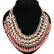clásicos de los estados de las mujeres de lujo de resina exageran elegante collar
