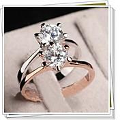 manera vendedora caliente simples circón blanco j1666 anillo de las mujeres