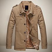 leitin cuello de solapa de los hombres todo a juego abrigo color sólido