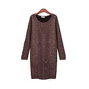 クレメント女性の新しいヨーロッパスリム大きな庭長袖底入れドレス底入れドレス