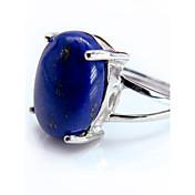 指輪 女性用 / 男性用 アクアマリン 銀 銀 調整可 銀