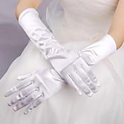 guante de novia de satén elástico longitud guante guantes nupciales estilo femenino clásico