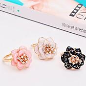 指輪 女性用 ラインストーン 合金 合金 フリーサイズ ブラック 色とスタイルの表現は、モニターによって異なる場合があります.誤植または絵のエラーの責任を負いません.