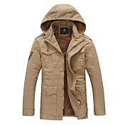 abrigo de invierno cálido algodón grueso abrigo de los hombres