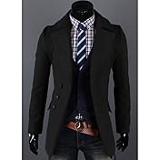 kailuoのメンズファッションカジュアルラペルネックソリッドカラーコート