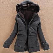 ファンタジーの女性の長い袖スリムなファッションパーカーはコートを厚くcausual