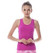 Yokaland Mujer Espalda Abierta / Strappy Yoga Top - Naranja, Morado, Verde Deportes Licra Chalecos / Tank Tops / Camiseta / Top Pilates,